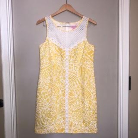 Lilly Pulitzer Dresses & Skirts - Lilly Pulitzer Yellow and White Shell Tunic Dress